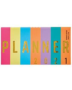 Agenda Mooving Golden Rainbow Semanal Pocket