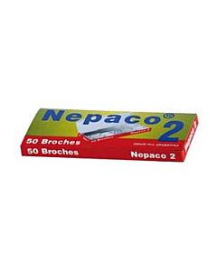 Broches Veloz Nepaco 8 Cm. x 50 Un.