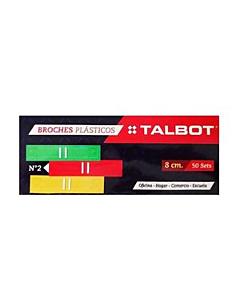 Broches Veloz Talbot 8 Cm. x 50 Un.