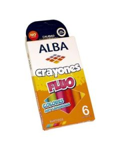 Crayones Alba Flúo x 6 Un.