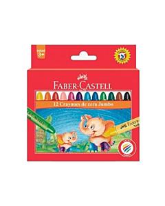 Crayones Faber Castell Jumbo x 12 Un.