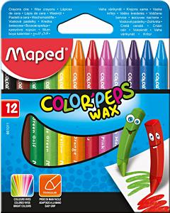 Crayones Maped Color Peps Wax x 12 Un.