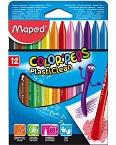 Crayones Maped Color Peps Plasticlean x 12 Un.