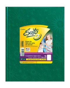 Cuaderno Éxito E3 19 x 24 Cm. Rayado Verde Araña x 48 Hs.