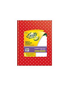Cuaderno Éxito E3 19 x 24 Cm. Rayado Rojo Lunares x 48 Hs.