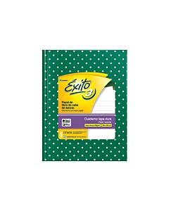 Cuaderno Éxito E3 19 x 24 Cm. Rayado Verde Lunares x 48 Hs.