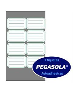 Etiquetas Pegasola 3433 38 x 60 Mm. Verde x 240 Un.