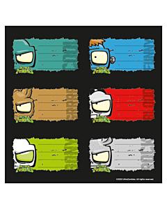 Eiquetas Ultra Zombies x 12 Un.