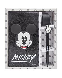 Libreta Mickey Mouse 10 x 18 Cm. Rayada Tapa Dura x 80 Hs.