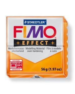 Masa Fimo Effect Naranja Cristal x 57 Gr.
