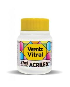Barniz Acrilex Vitral Amarillo Oro Mate x 37 Ml.