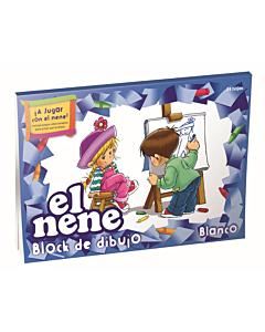 Block El Nene N°6 Blanco x 25 Hs.