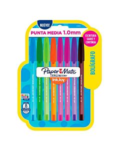 Bolígrafos Paper Mate Ink Joy 100-ST 1 Mm. x 8 Un.