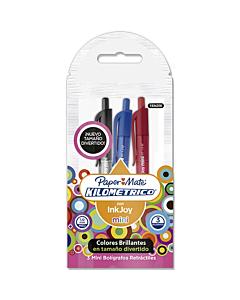 Bolígrafos Paper Mate Ink Joy 100-RT Mini 1 Mm. x 4 Un.