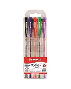 Bolígrafos Simball Power Gel 1 Mm. x 5 Un.