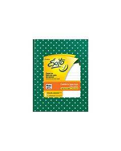 Cuaderno Éxito E1 N°3 Rayado Verde Lunares x 48 Hs.