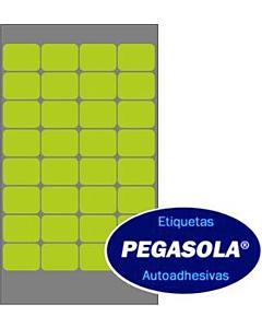 Etiquetas Pegasola 36151 16 x 22 Mm. Verde x 960 Un.