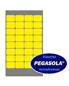 Etiquetas Pegasola 36152 16 x 22 Mm. Amarillo x 960 Un.