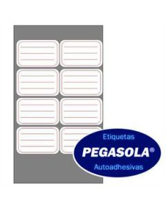Etiquetas Pegasola 3233 38 x 60 Mm. Rojo x 240 Un.