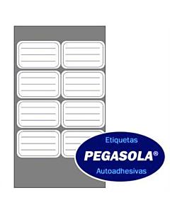 Etiquetas Pegasola 3333 38 x 60 Mm. Azul x 240 Un.