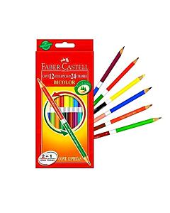 Lápices Faber Castell Bicolores x 12 Un.