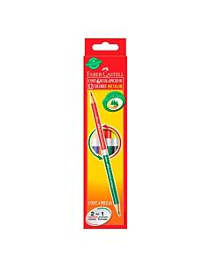 Lápices Faber Castell Bicolores x 6 Un.