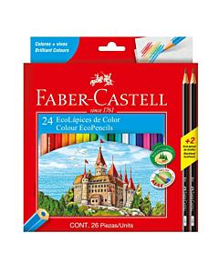 Lápices Faber Castell x 24 Un. + 2 Negros