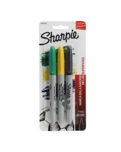 Marcadores Sharpie Fine Point Brasil Permanente x 3 Un.