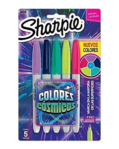Marcadores Sharpie Colores Cósmicos x 5 Un.