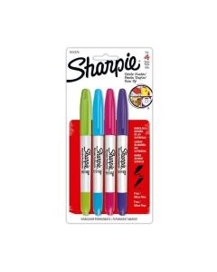 Marcadores Sharpie Twin Pin Permanente Doble x 4 Un.