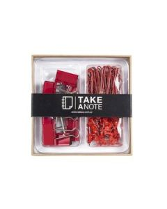 Set Escritorio Take Anote Rojo
