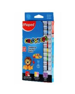 Témperas Maped Color Peps x 8 Ml. x 12 Un.